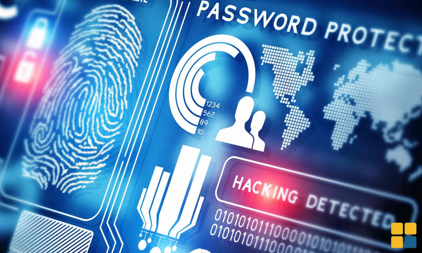 Hacker detectado senha protegida