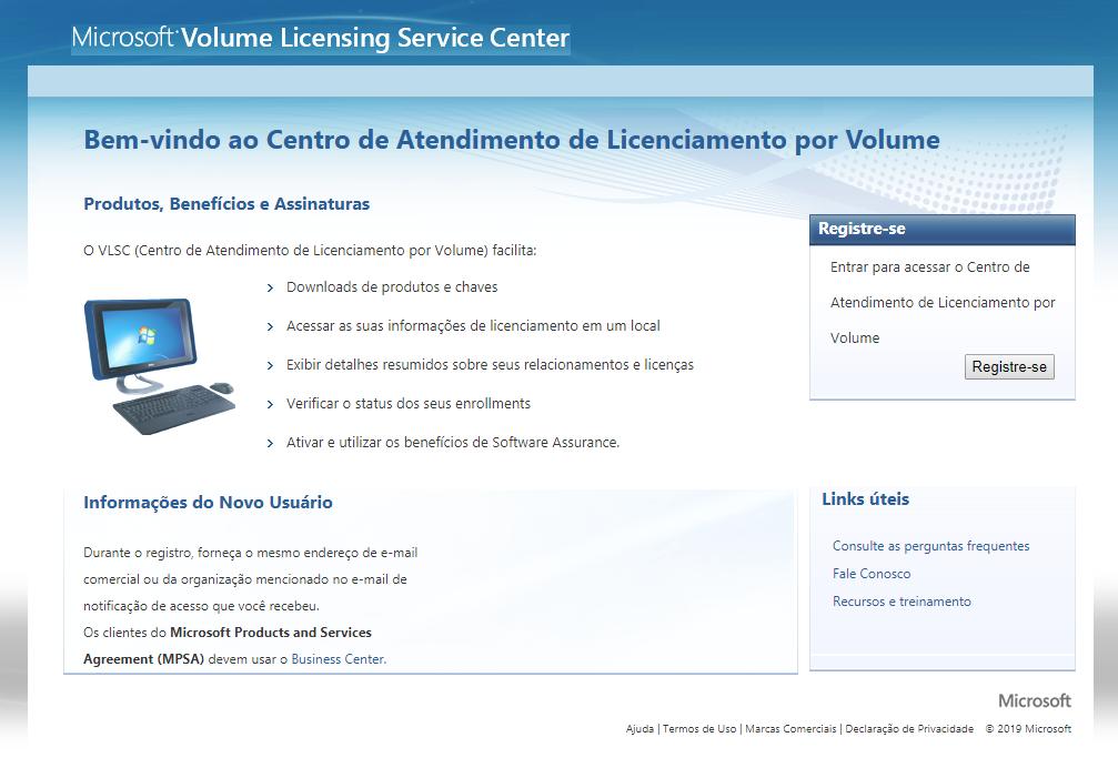 Centro de Atendimento de Licenciamento por Volume